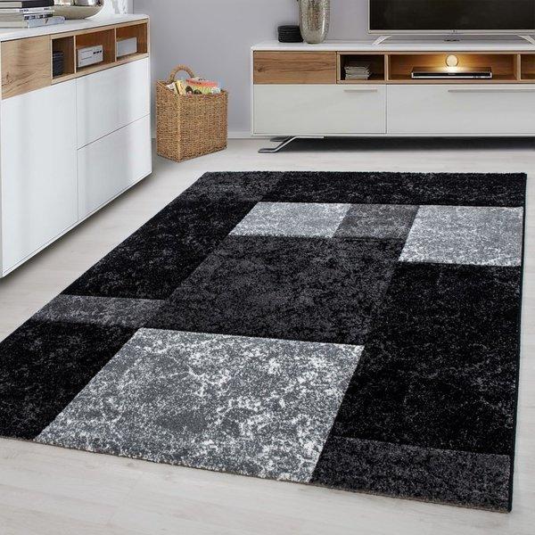Modern vloerkleed - Tetris Zwart 1330