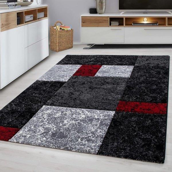 Modern vloerkleed - Tetris Rood 1330