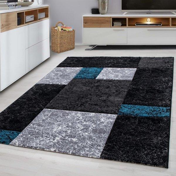 Modern vloerkleed - Tetris Turquoise 1330