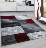 Adana Carpets Modern vloerkleed - Tetris Rood 1710