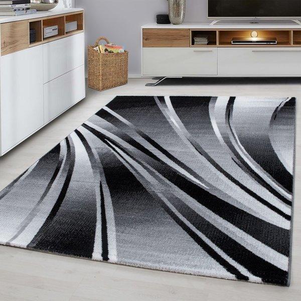 Modern vloerkleed - Jena Zwart 9210