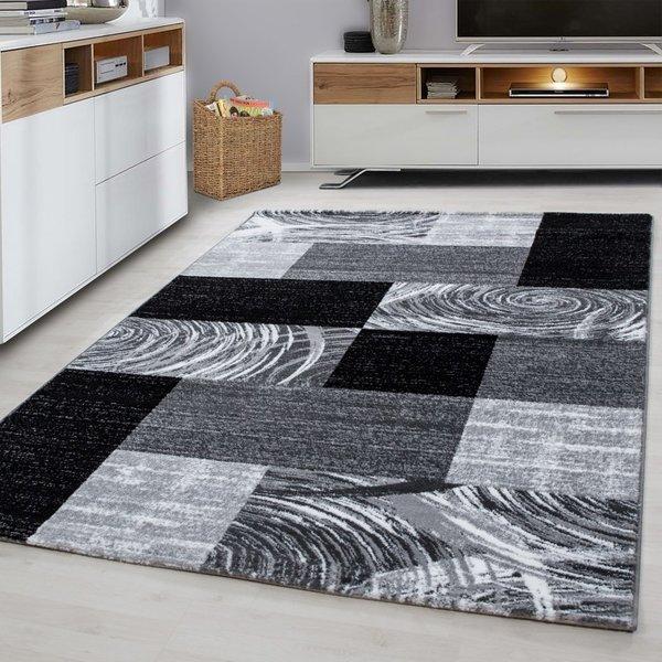 Modern vloerkleed - Jena Zwart 9220