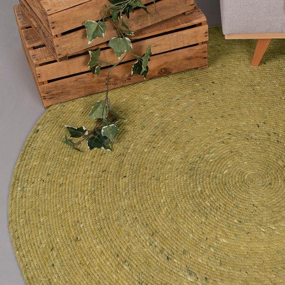 FRAAI Rond wollen vloerkleed - Wise Groen No. 311