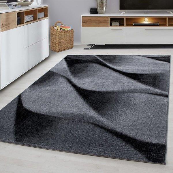 Modern vloerkleed - Jena Zwart 9240