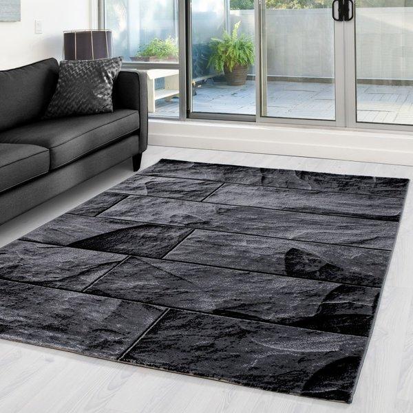 Modern vloerkleed - Jena Zwart 9250