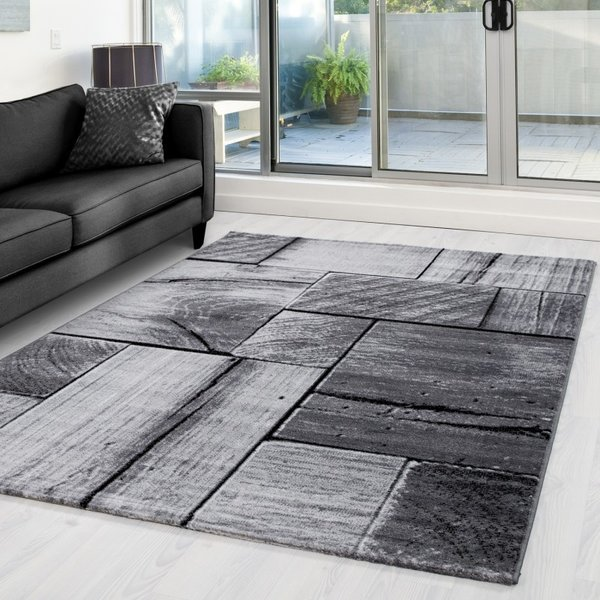 Modern vloerkleed - Jena Zwart 9260