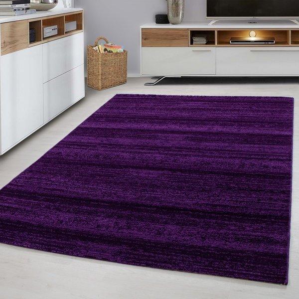 Adana Carpets Modern vloerkleed - Plus Paars 8000