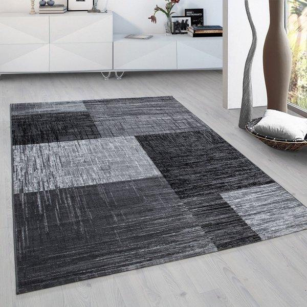 Modern  vloerkleed - Plus Zwart 8001