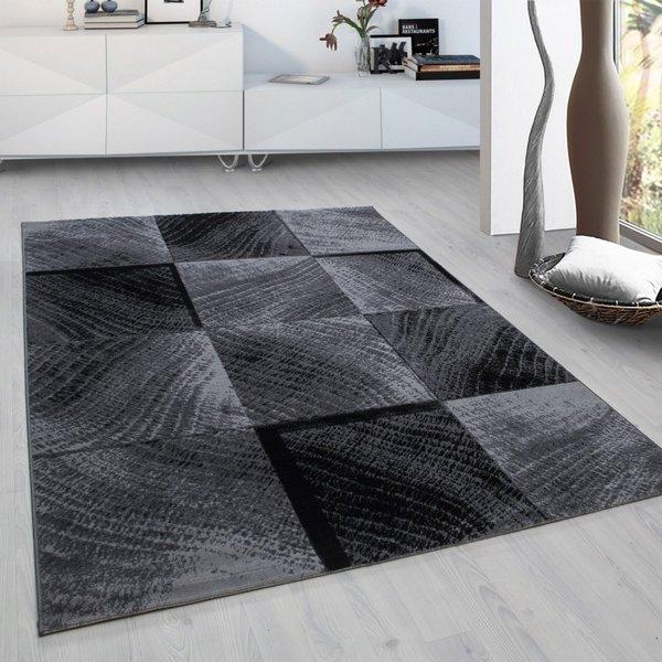 Modern vloerkleed - Plus Zwart 8003