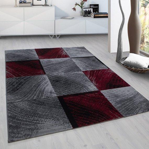 Adana Carpets Modern vloerkleed - Plus Rood 8003