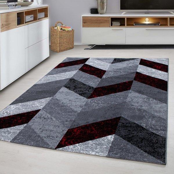 Modern vloerkleed - Plus Rood 8006