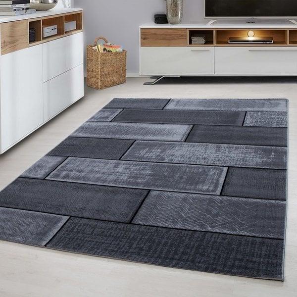 Modern vloerkleed - Plus Zwart 8007