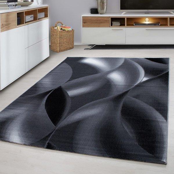 Modern vloerkleed - Plus Zwart 8008