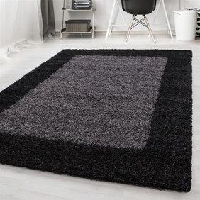 Adana Carpets Hoogpolig vloerkleed - Edge Zwart