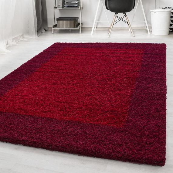 Adana Carpets Hoogpolig vloerkleed - Edge Rood