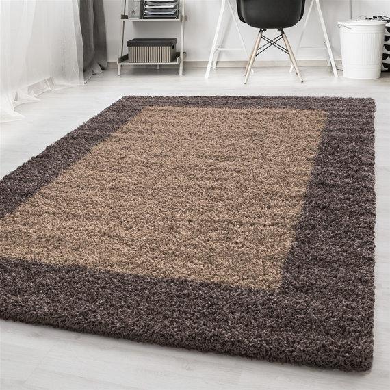 Adana Carpets Hoogpolig vloerkleed - Edge Taupe