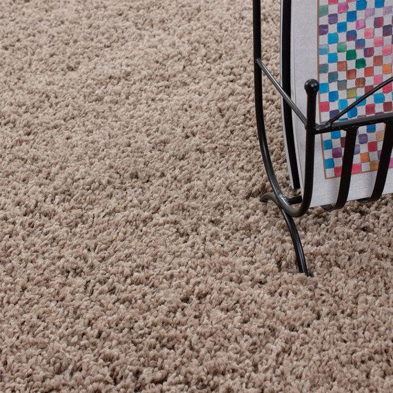 Adana Carpets Rond Hoogpolig vloerkleed - Life Beige