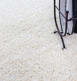 Adana Carpets Rond Hoogpolig vloerkleed - Life Creme/Wit