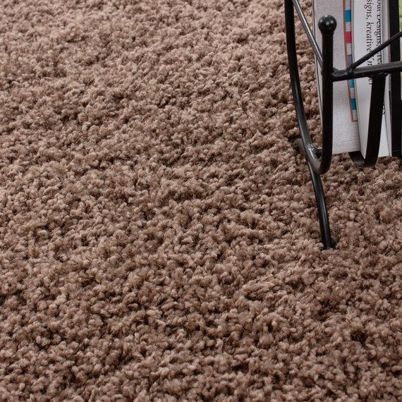 Adana Carpets Rond Hoogpolig vloerkleed - Life Mokka
