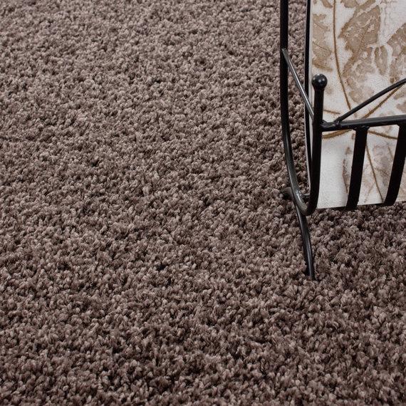 Adana Carpets Rond Hoogpolig vloerkleed - Life Taupe
