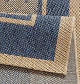 Hanse Home Klassiek vloerkleed - Natural ruit blauw