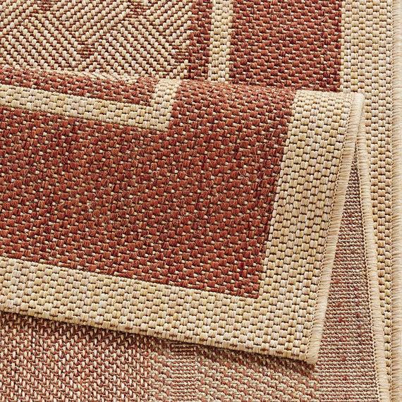 Hanse Home Klassiek vloerkleed - Natural ruit roodbruin