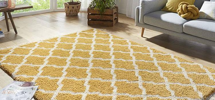 Berber vloerkleed geel