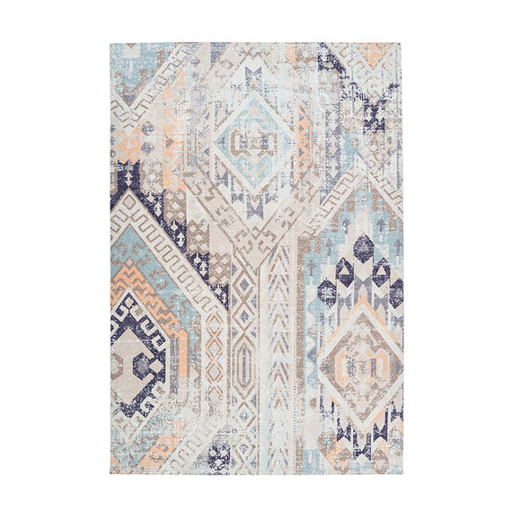 Kay Astec vloerkleed - Isa 200 Multi/Blauw