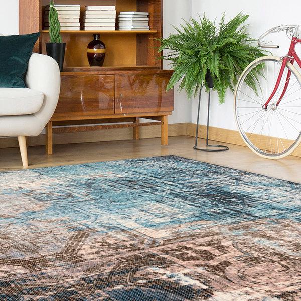 Astec vloerkleed - Isa 300 Blauw/Bruin