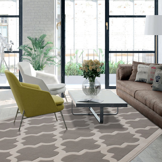 Kay Modern vloerkleed - Mano Ornament Taupe