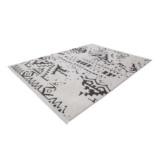 Kay Berber vloerkleed - Agaat 110 Zwart/Wit