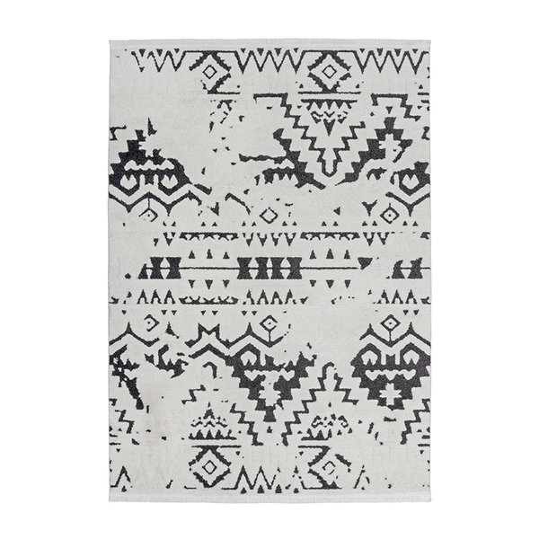 UITLOPEND- Berber vloerkleed - Agaat 110 Zwart/Wit