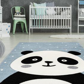Kay Kindervloerkleed - Atlantisch Panda Blauw