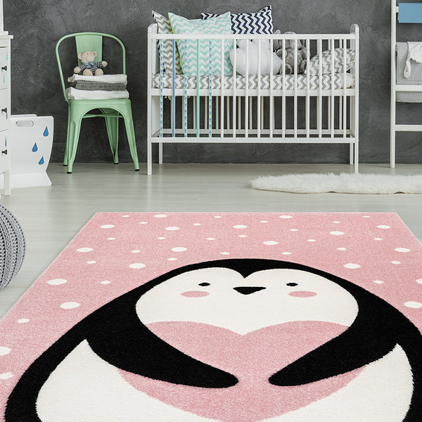 Kindervloerkleed - Atlantisch Pinguin Roze