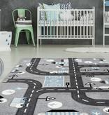 Kay Kindervloerkleed - Atlantisch Autoweg Zilver