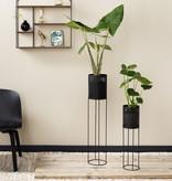 Lifa Living Metalen Plantenbak - June Zwart 2/set