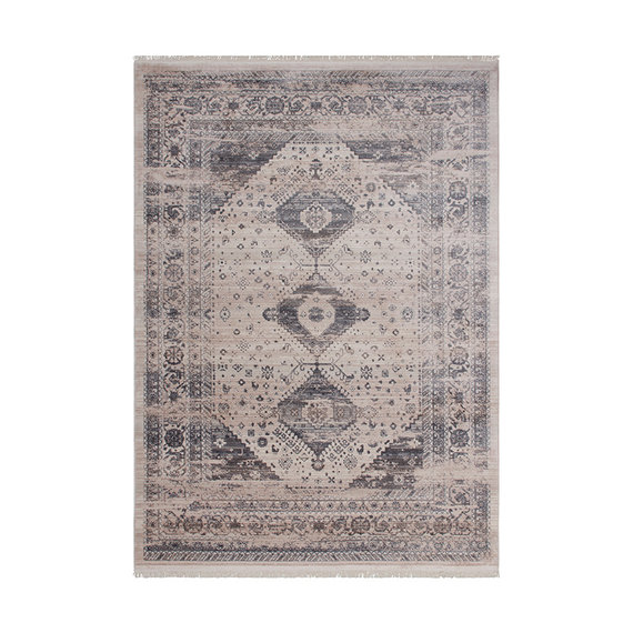 Kay Vintage vloerkleed - Tibaans Haixi Zilver