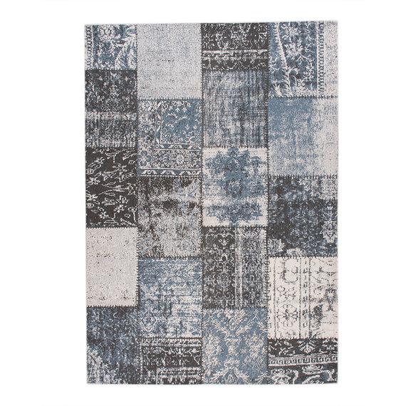 FRAAI Patchwork vloerkleed - Dreams Grijs/Blauw