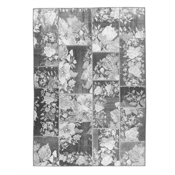 FRAAI Patchwork Rozenkelim vloerkleed - Rosa Grey