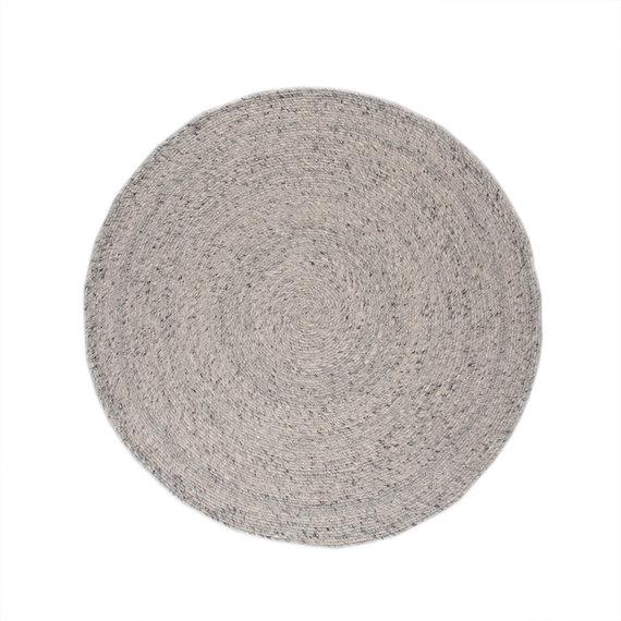 FRAAI Rond wollen vloerkleed - Wise grijs/wit No. 609