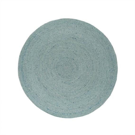 FRAAI Rond wollen vloerkleed - Wise Blauw No. 364