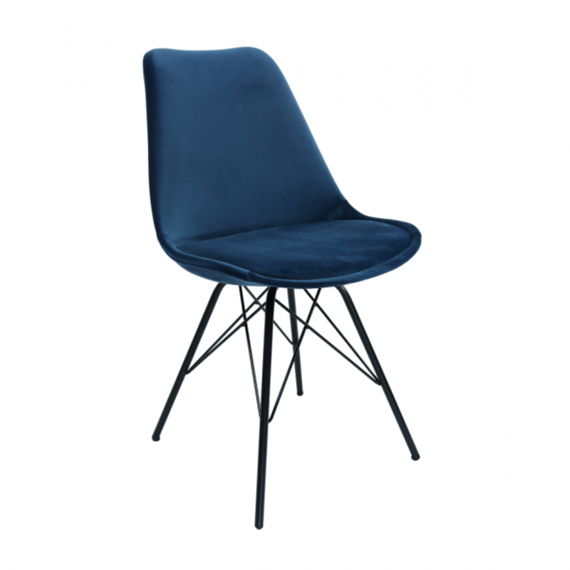 Kick Collection Stoel Velvet - Donkerblauw