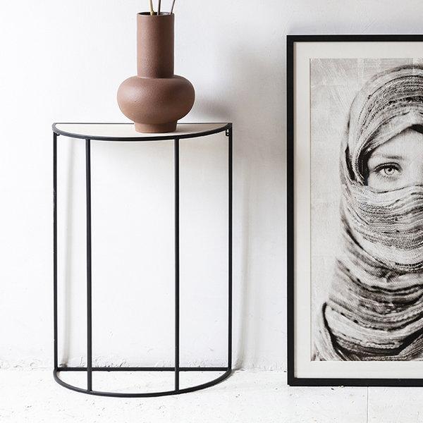Lifa Living Wandtafel Halfrond - Metaal Zwart