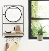 Lifa Living Wandrek met Spiegel - Metaal Verticaal Zwart