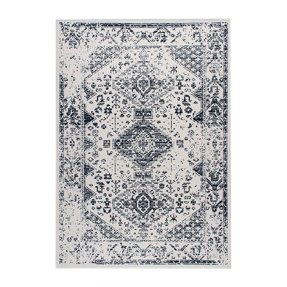 FRAAI Vloerkleed Ambiance - Oriental Wit Blauw