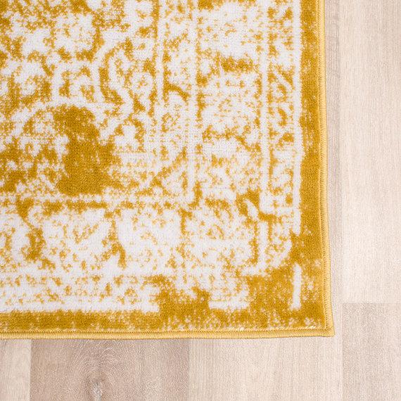FRAAI Vintage Vloerkleed - Adore Medaillon Geel