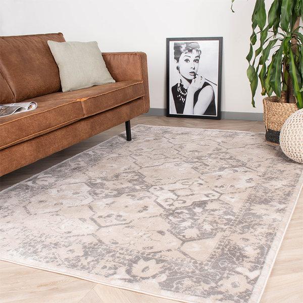 Vintage vloerkleed - Deep Tile Creme