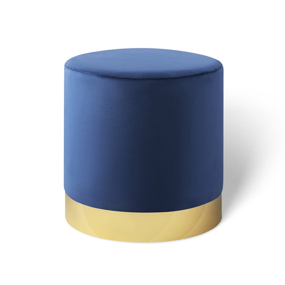 Lifa Living Velvet poef - Beau Deluxe Koningsblauw