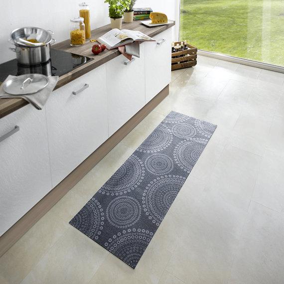 Zala living Wasbare keukenloper - Cook and Clean Grijs