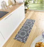 Zala living Wasbare keukenloper - Cook and Clean Grijs Creme